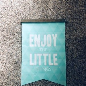 Other - Enjoy the little things - wall hanging decor